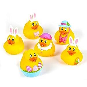 "~ 12 ~ Easter Rubber Ducks / Duckies ~ 2"" ~ New"