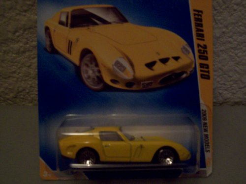 Hot Wheels 2009 New Models YELLOW Ferrari 250 GTO 1:64 Scale - 1