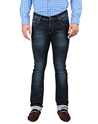 Oxemberg Men's Slim Fit Denim (HL964_DARK BLUE_34)