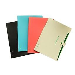 Plastic 6 Pockets A4 Paper File Folder Cover Holder Business Document for Office