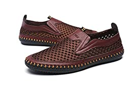 Mohem Men\'s Poseidon Slip-On Loafers Walking Shoes Casual Sandal Fashion Sneakers(3177coffee42)