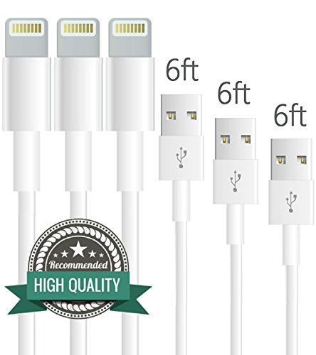 DirectTM-3-Pack-6ft-iPhone-Lightning-Cable-Charging-Cord-USB-Cable-for-iPhone-6s6s6plus6-iPhone-55c5siPad-MiniMini2iPad-5iPod-7White
