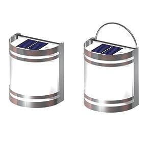 Heitronic - Lámpara de pared led solar en BebeHogar.com