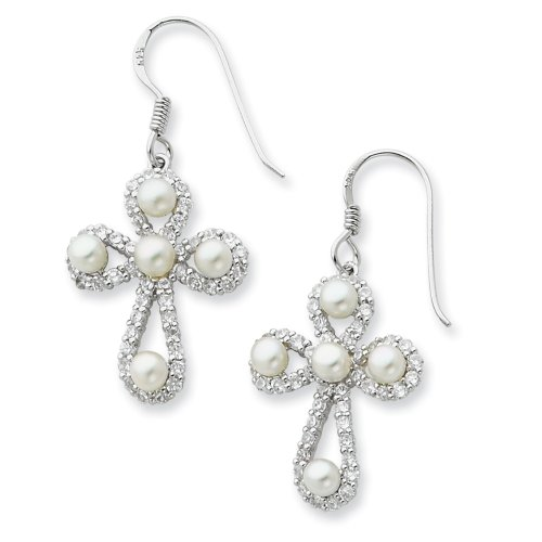 Sterling Silver Pearls of Purity Sentimental Expressions Earrings