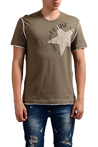 gianfranco-ferre-beachwear-mens-olive-green-t-shirt-us-m-it-50