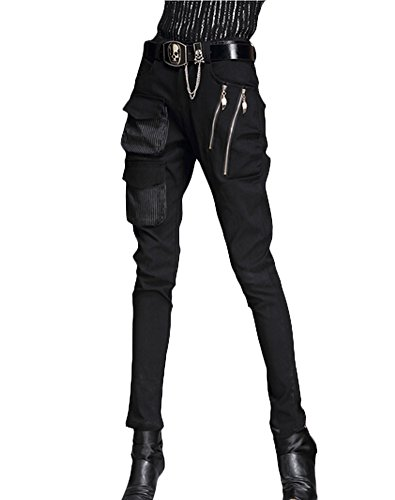 Punk Street Style Pants Zipper Pockets