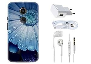 Spygen Motorola Google Nexus 6 Case Combo of Premium Quality Designer Printed 3D Lightweight Slim Matte Finish Hard Case Back Cover + Charger Adapter + High Speed Data Cable + Premium Quality Handfree