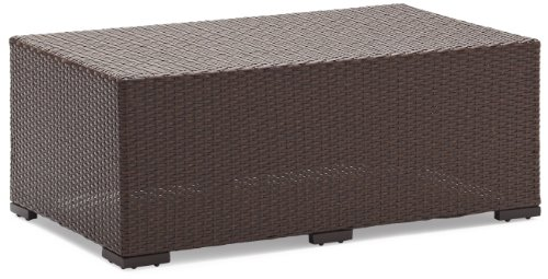 Strathwood Griffen All-Weather Wicker Coffee Table, Dark Brown image