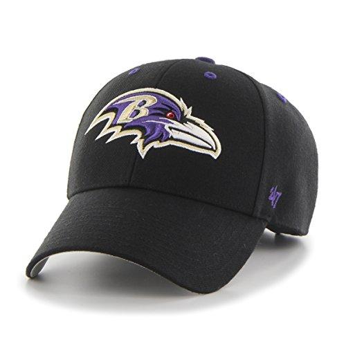 Women's Baltimore Ravens '47 Brand Purple Sparkle Script Clean Up Adjustable Hat