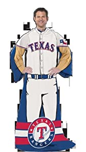 MLB Texas Rangers Uniform Huddler Blanket With Sleeves by Northwest