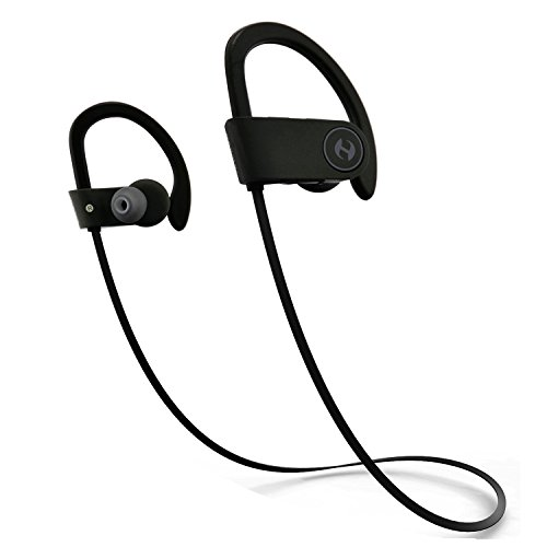 Bluetooth Headphones, Hussar Magicbuds Wireless Headphones -IPX4 Sweatproof -Premium Sound with Bass, Noise Cancelling -Ergonomic Design, Secure Fit -Bluetooth V4.1 -Zippered Case -7 Hours Playtime