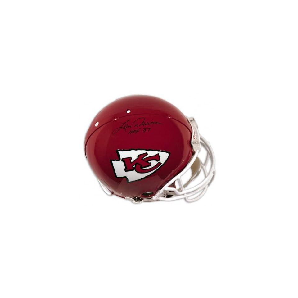 Len Dawson Autographed Pro Line Helmet  Details Kansas City Chiefs, Authentic Riddell Helmet, HOF 87 Inscription