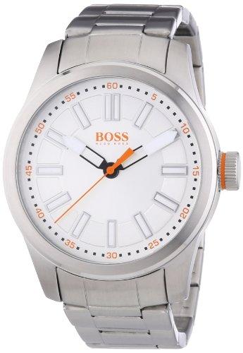 Hugo Boss  Paris - Reloj de cuarzo para hombre, con correa de acero inoxidable, color plateado