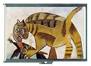 PABLO PICASSO CAT DEVOURING BIRD ID Holder Cigarette Case or Wallet: Made in USA