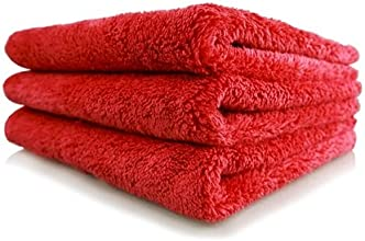Chemical Guys MIC35103 Happy Ending Edgeless Microfiber Towel Red - 16 in x 16 in Pack of 3