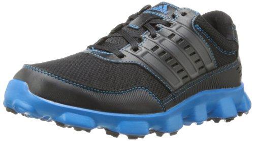 adidas Men's Crossflex Sport Golf Shoe,Black/Black/Solar Blue,10.5 M US