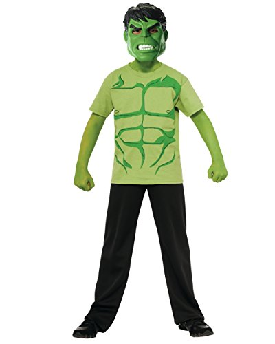 Marvel Avengers Assemble Incredible Hulk Costume T-Shirt with Mask