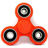 Frappel Gear Spinner Fidget Spinner Hand Spinner Fun, Anti-Stress, Focus,ADHD, Anxiety (Red)