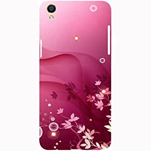 Casotec Pink Abstract Design 3D Printed Hard Back Case Cover for Oppo F1 Plus