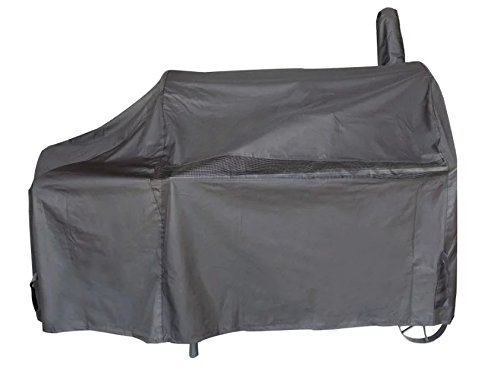iCOVER 60 Inch Heavy-Duty Premium classic outdoor BBQ Barbecue Black Off-Set Smoker Cover G21608 for weber char-broil Brinkmann Nexgrill (Charcoal Smoker Cover compare prices)