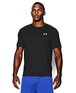 Under Armour Men's Short Sleeve Tech Tee, Medium, Black/White