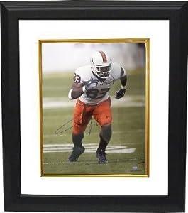 Sinorice Moss signed Miami Hurricanes 16x20 Photo Custom Framed