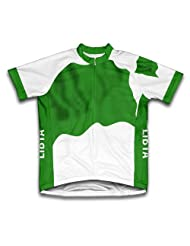Libya Flag Short Sleeve Cycling Jersey for Women