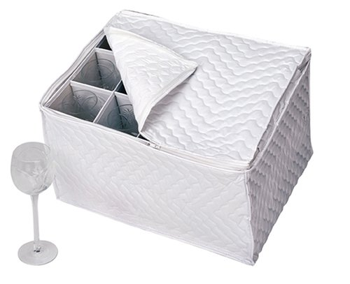 Richards Homewares Vinyl Stemware Chest-White (Richards China Storage compare prices)