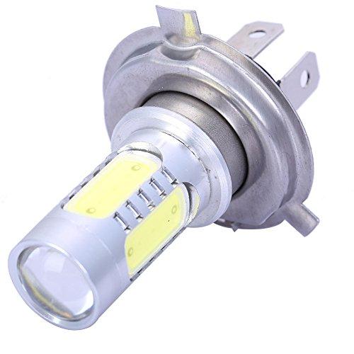 2Pcs Car H4 White 7.5W 5 Smd Led Drl Head Light Headlight Fog Bulb Lamp For Auto Vehicle