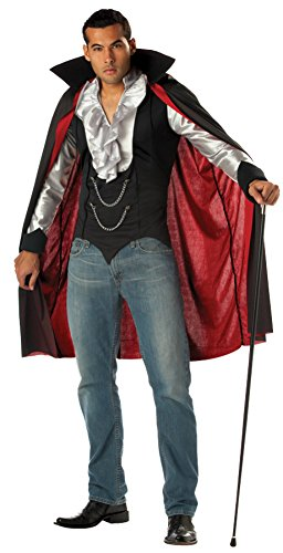 California Costumes Mens Gothic Very Cool Vampire Dracula Theme Fancy Dress