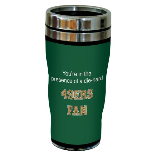 Tree-Free Greetings Sg24666 49Ers College Basketball Sip 'N Go Stainless Steel Lined Travel Tumbler, 16 Ounce