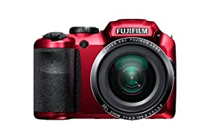 Fujifilm FinePix S6800 16MP Digital Camera with 3-Inch LCD (Red)