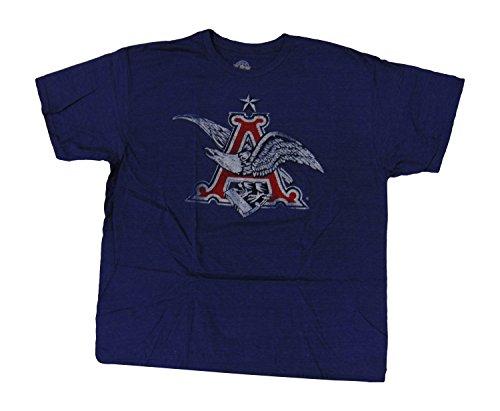 anheuser-busch-mens-t-shirt-distressed-classic-eagle-a-logo-heather-blue-xxl