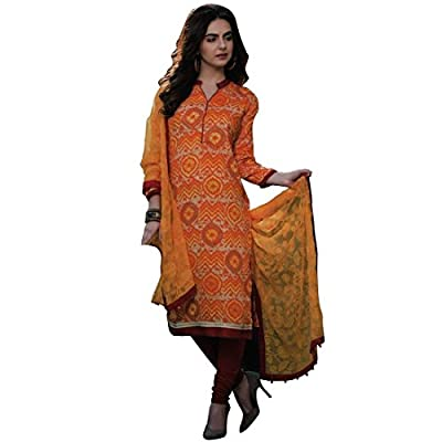 Rich Lawn Cotton Printed Lace work Salwar Kameez (Un-Stitched Dress Material)