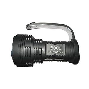 NEW Trustfire Searchlight High-power Super Bright 8000 Lumens 6x Cree Xm-l T6 LED Flashlight Searchlight 18650