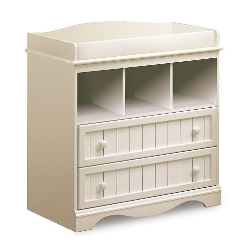 South Shore Savannah Changing Table Pure White front-453939