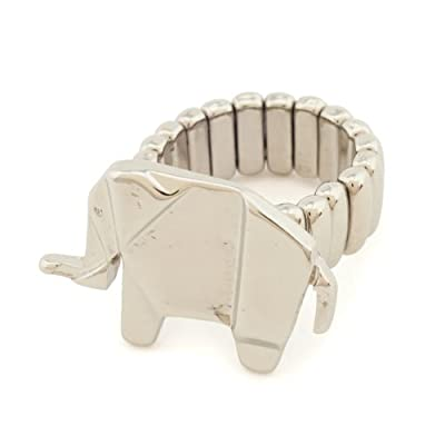 Origami Elephant Stretch Ring