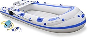 Sea Eagle 124SMB 12.4ft Motormount Inflatable 4 Person Boat by Sea Eagle