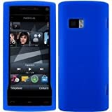 Wayzon Blue Nokia X6 Case Cover Skin Pouch Shell Plain Silica Rubber