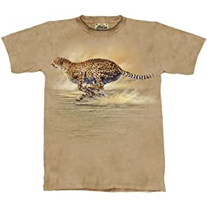 Running Cheetah T-shirt 100% Cotton Short Sleeve Shirt in Adult Sizes