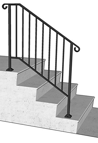 DIY Iron X Handrail Picket #3 Fits 3 or 4 Steps (Wrought Iron Railing For Steps compare prices)