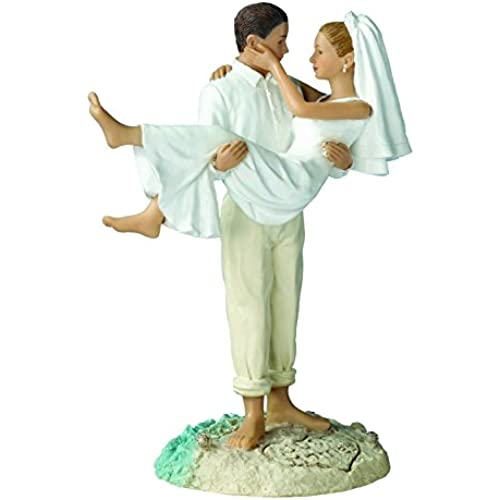 Lillian Rose 케익 topper Just Married (비치) 웨딩케익 장식용 결혼식 축하파티 데코