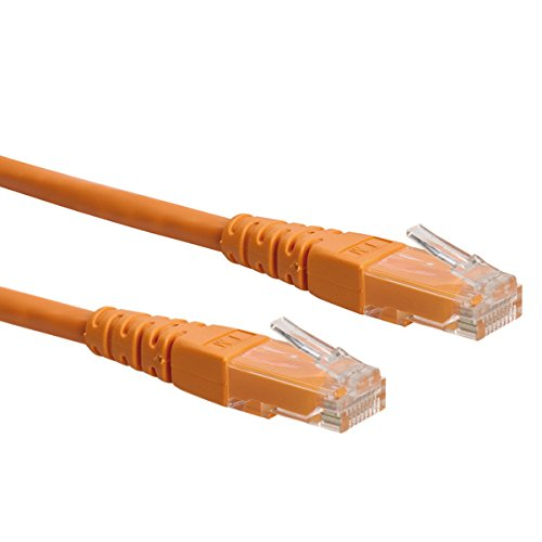 Roline Patchkabel Netzwerkkabel CAT6 UTP 0,3m orange
