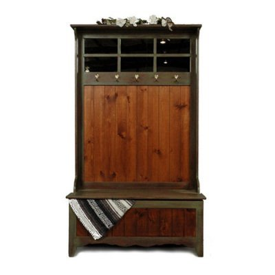 Indoor Entryway Benches Westmoreland Woodworks New England Hall Tree With Storage Bench 303
