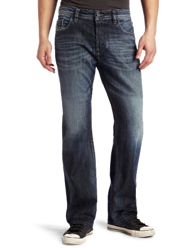 Diesel Men's Larkee Relaxed 885K Relaxed Straight Leg Jean, Denim, 33x32