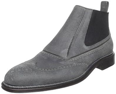 (顶级)意大利产铁狮东尼真皮皮靴 灰 a.testoni Men's M12137 Boot $269.55