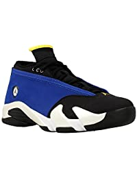 Jordan Men's Air 14 Retro Low, Laney-VARSITY ROYAL/VARSITY MAIZE-BLACK-WHITE