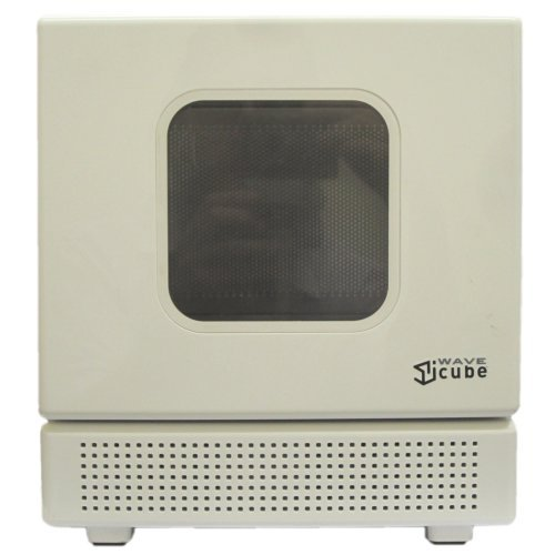 Iwavecube Iw600Sil 600-Watt Personal Desktop Microwave Oven, In Silver And White (White)