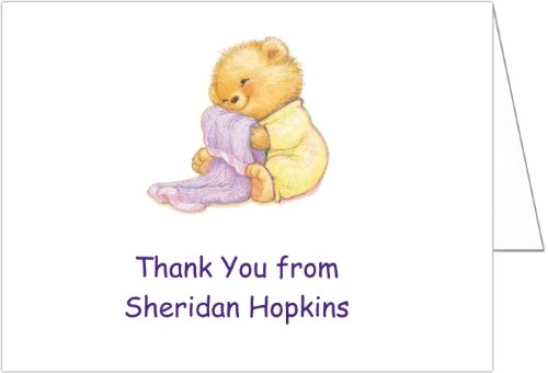 Soft & Cuddly Yellow Baby Shower Thank You Cards - Set Of 20 front-1032847