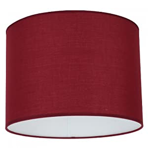 Tp24 Drum Lamp Shades Tp4456 4456 Plum Red Cotton